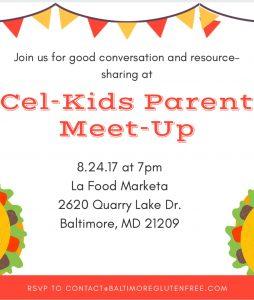 Cel-Kids Maryland Parent Meet-Up @ La Food Marketa   Baltimore   Maryland   United States